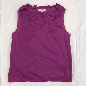 LOFT women's L sleeveless blouse